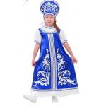 2012776 Русский костюм д/девочки: платье с кокетко