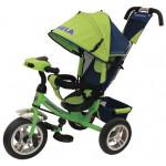 86155 Велосипед 3-х колесный зеленый с ручкой упра