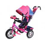 86156 Велосипед 3-х колесный розовый с ручкой упра