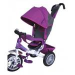 86158 Велосипед 3-х колесный фиолетовый с ручкой у