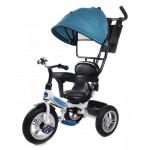86162 Велосипед 3-х колесный голубой с ручкой упра