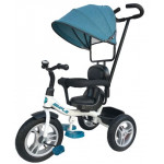 86180 Велосипед 3-х колесный голубой с ручкой упра