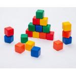 1200603 Набор цветных кубиков 20шт 4х4см