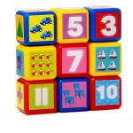 """4326068 Набор цветных кубиков """"Счет"""" 4х4 см 9шт"""